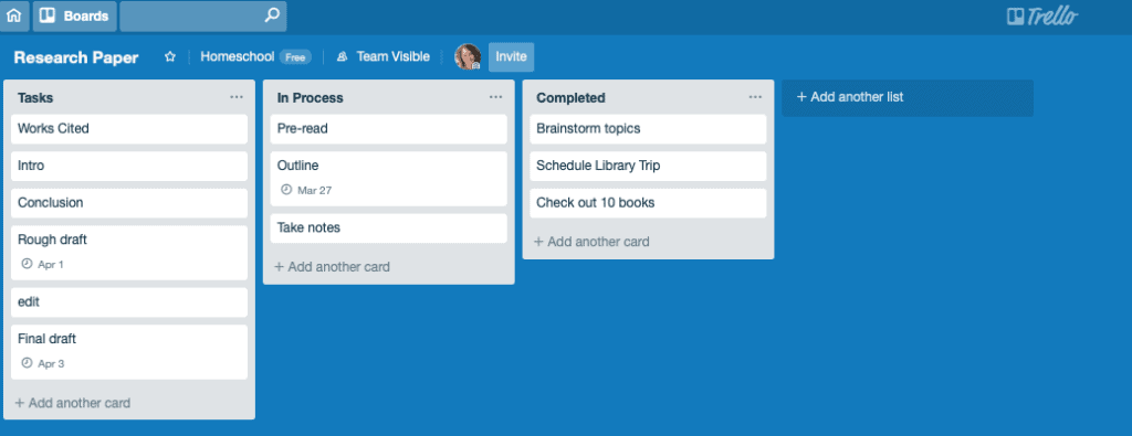 Download a cheatsheet to get started using Trello for high school homeschool scheduling.