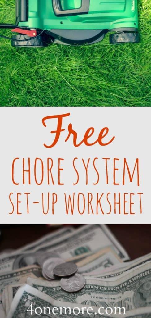 free chore system set-up worksheet